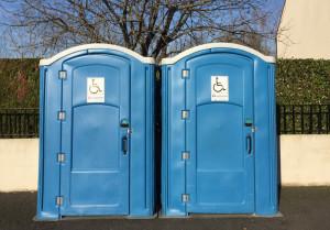 extérieur cabine sanitaire pmr