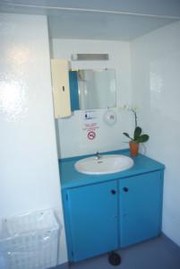 intérieur caravane sanitaire autonome
