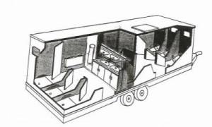 schéma caravane douche