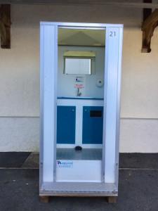 extérieur cabine sanitaire confort